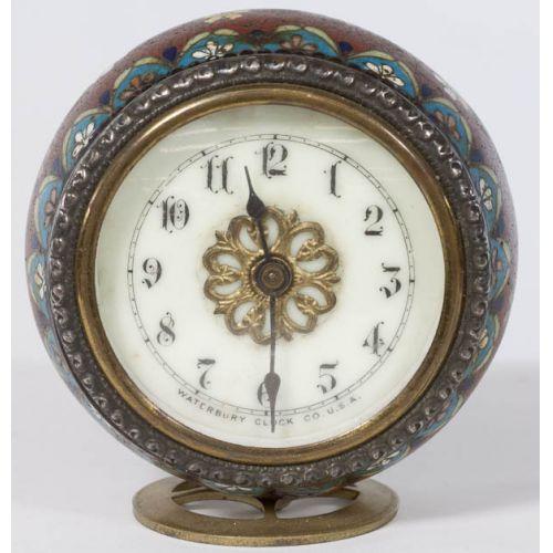Waterbury Clock Co Cloisonne Desk Clock