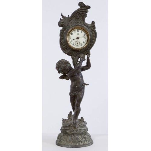 Jennings Brothers Standing Cupid Wind-up Clock