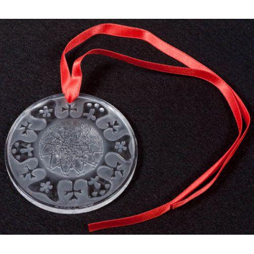 Lalique France Glass Circle Ornament