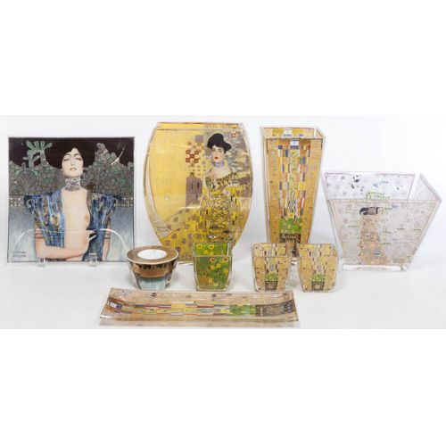 Goebel Artist Orbis by Gustav Klimt Hand-made Glassware