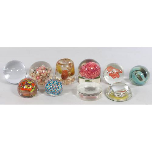 Collection of Glass & Plastic Paperweights (10pcs)