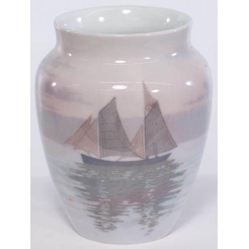 Danish Glazed Porcelain Vase