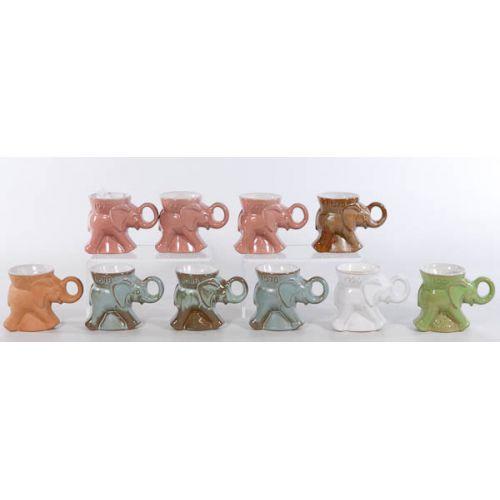 Collection of Frankoma G O P Mugs (10pcs) including white