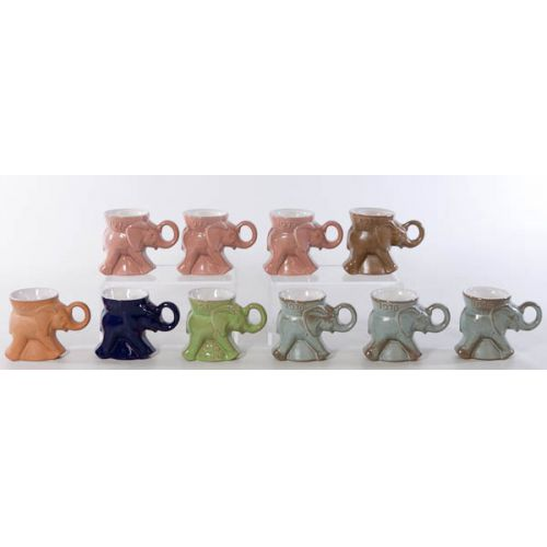 Collection of Frankoma G O P Mugs (10pcs) including navy