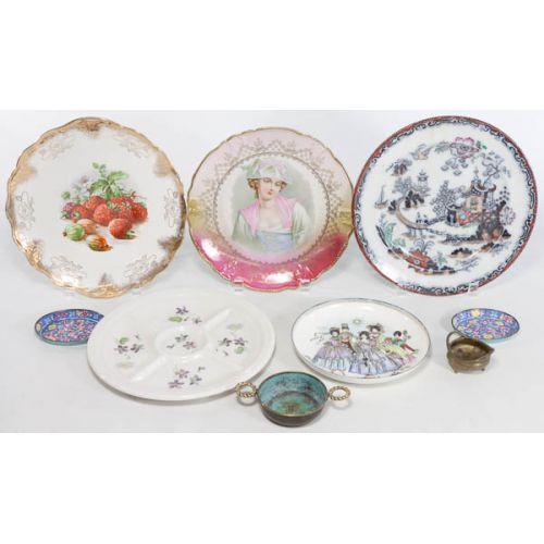 Ceramic & Metallic Decorator Plates (9pcs)