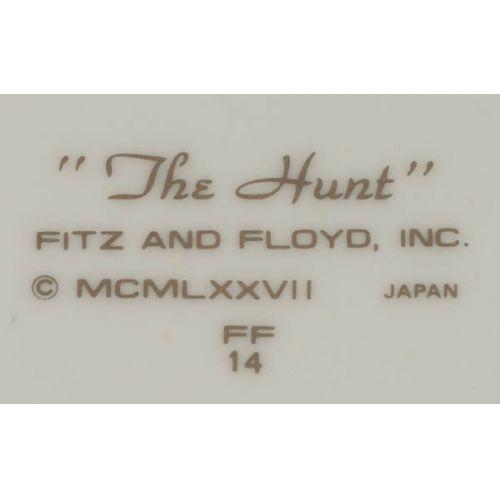 "Fitz & Floyd ""Hunt"" Dinnerware Set Service for 12"