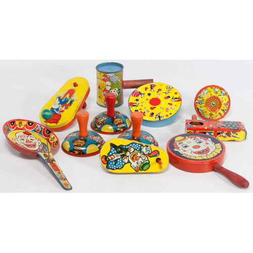 Collection of Tin Noise Makers (11pcs)