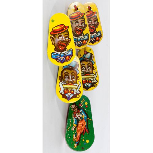 Collection of Black Americana Tin Noise Makers (6pcs)
