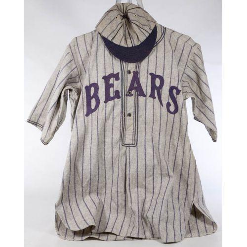 "A G Spauling & Bro ""Bears"" Baseball Uniform with Cap"