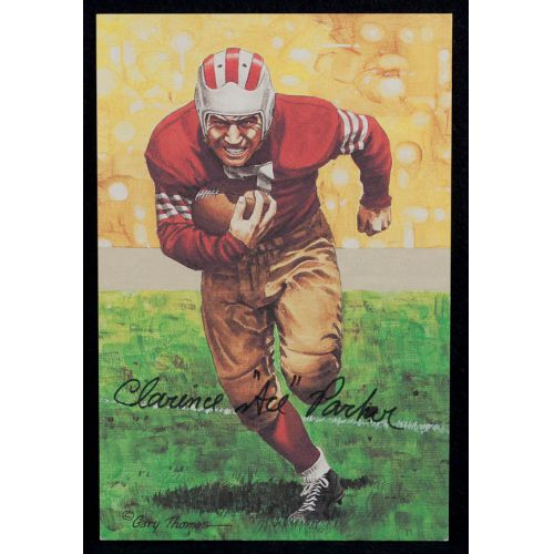 """Clarence """"Ace"""" Parker Signed Goal Line Art Card with JSA Authentication"""