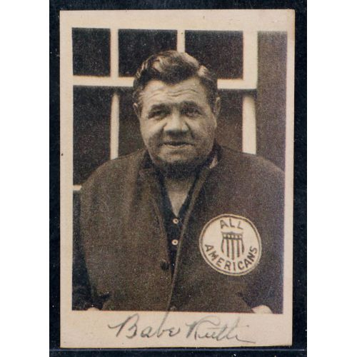 Babe Ruth Tour of Champion Card