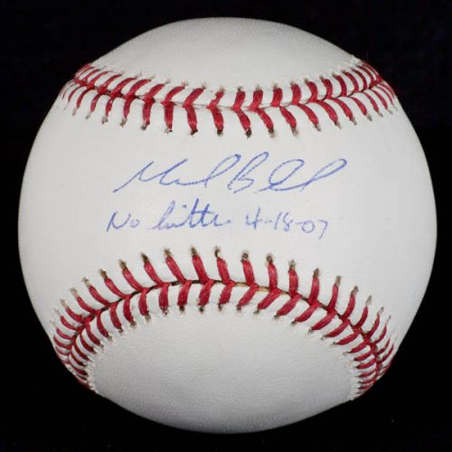 Signed Mark Buehrle No Hitter 4-18-2007 Baseball with PSA and Steiner Authentication