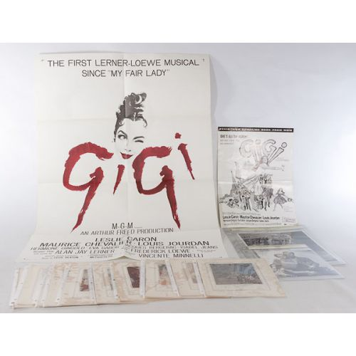 GiGi Movie Poster, Movie Stills, Pages from a Fairy Tale Book