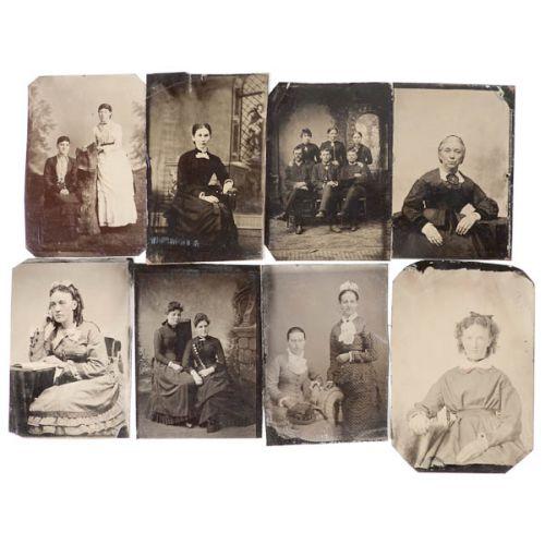 Collection of Tin Type Photos (8 Pieces)