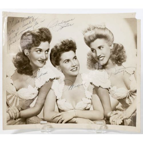 Signed Photo of the Andrew Sisters