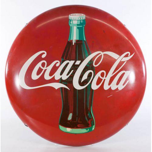 Coca-Cola Round Metal Button Sign