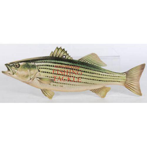 Winchester Fishing Tackle Cardboard Walleye Ad Sign