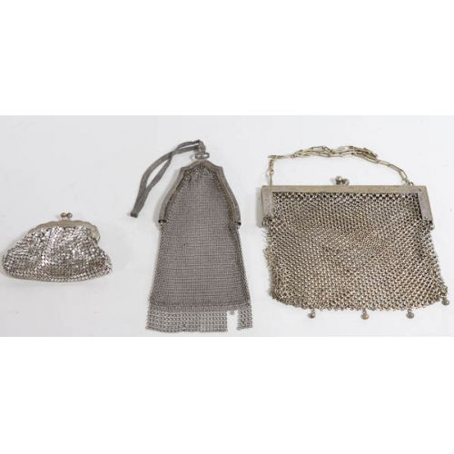 Group of Mesh Purses