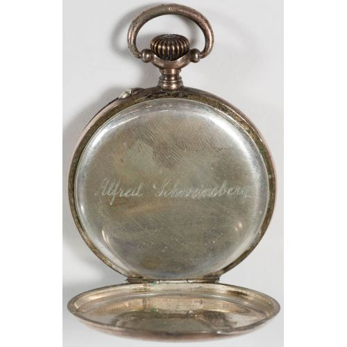 800 Silver Pocket Watch with gold wash