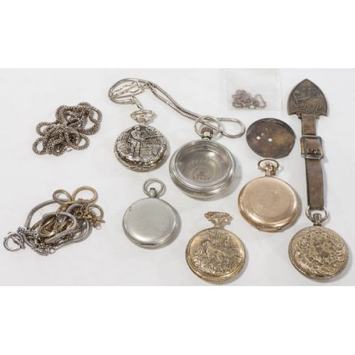 Collection of Pocket Watches & Watch Fobs