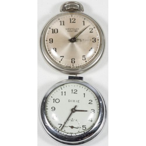 Dixie & Westclox Pocket Ben Pocket Watches (2pcs)