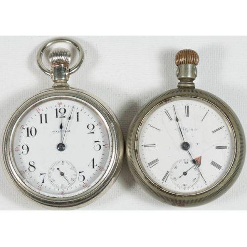 Waltham & Elgin RR Pocket Watches (2pcs)