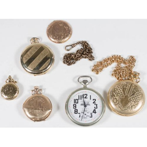 Collection of Pocket Watches & Case Parts