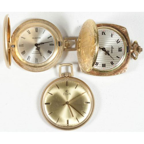 Majestine, Elgin & Arnex Pendant Watches (3pcs)