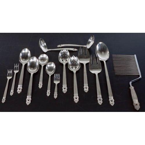 "International Sterling ""Royal Danish"" Flatware Serving Pieces"