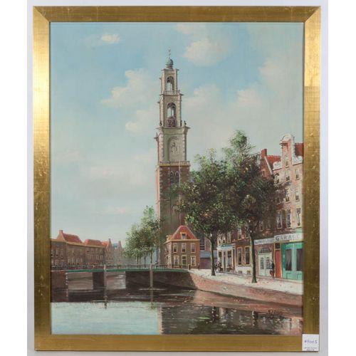 George Jan Dispo (German) View of Westerloren Street in Amsterdam