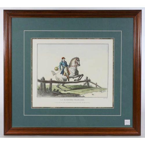 """""""La Barierre Franchie."""" Framed Print"""
