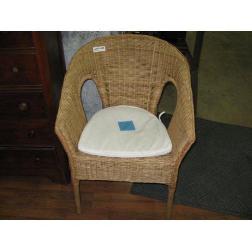 Wicker Chair with Cushion