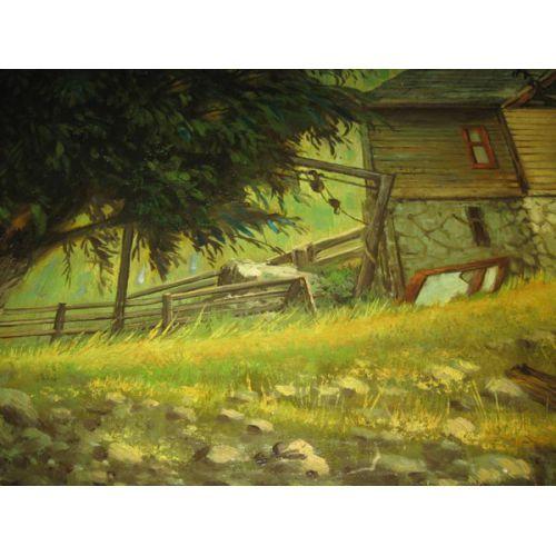 Oil on Canvas - Old Barn