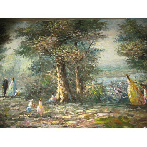 Oil on Canvas - Woodland Scene