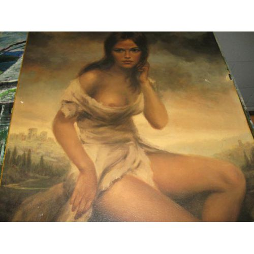 Nude Poster Mounted on Canvas