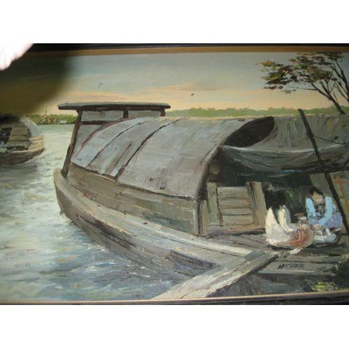 Framed Oil on Canvas - Sandpans