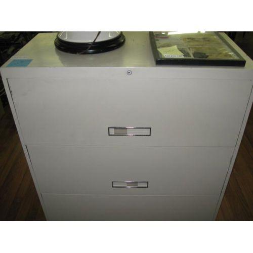 Three Drawer Metal File Cabinet