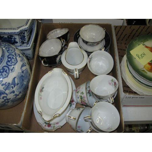 Cups, Saucers, Gravy Boat