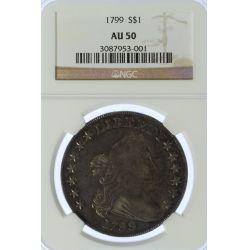 1799 $1 AU-50 NGC