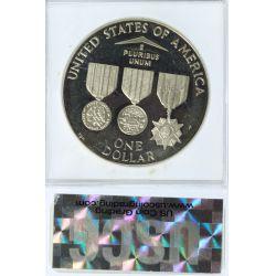 View 2: 1994 $1 Vietnam Veterans PR-70 DCAM USCG