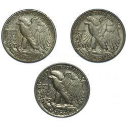 View 2: 1943, 1943-D, 1943-S 50c VF-XF
