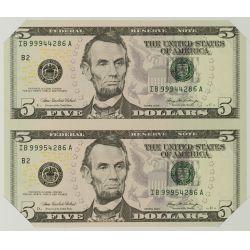 View 2: 2006 $5 & $1 Uncut Sheets