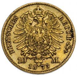 View 2: Germany: 1873 10 Mark Gold VF