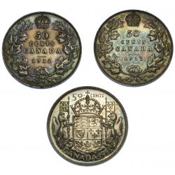 View 2: Canada: 1911, 1912, 1953 50c XF-VF