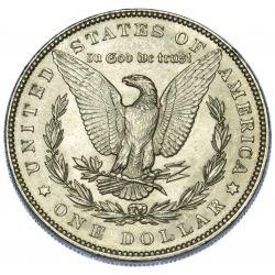 View 2: 1887 $1 AU-58