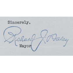 View 5: (3) Richard J. Daley, Chicago Mayor, Signed Letters - 1957-1965
