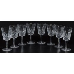 View 2: (8) Waterford Crystal  Lismore Water Goblets