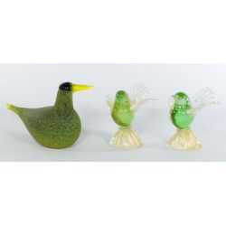 View 2: Collection of (3) Italian Art Glass Birds