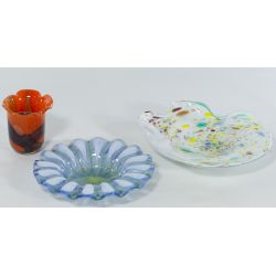 View 2: (3) Art Glass Pieces