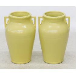 View 2: Yellow Glazed American Ceramic Floor Vases